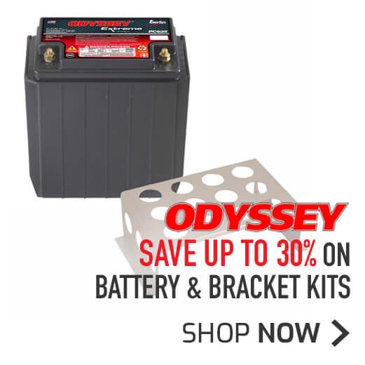 Save up to 30% on Odyssey Battery & Bracket Kits