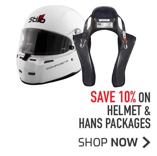 Save 10% on Helmet & HANS Packages