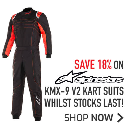 Save 18% on Alpinestars KMX-9 V2 Kart Suits - whilst stocks last!