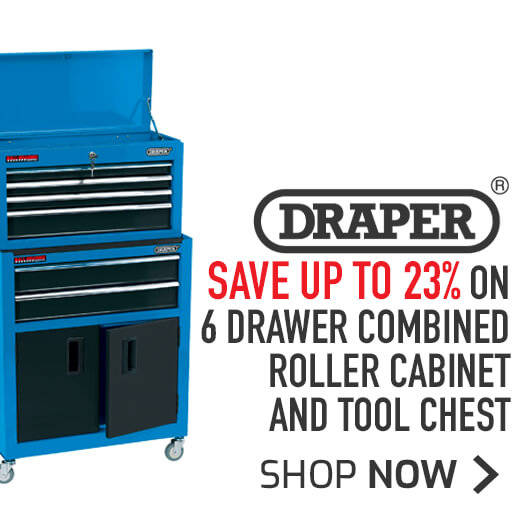 Draper 6 Drawer Combined Roller Cabinet And Tool Chest - Save up to 23%