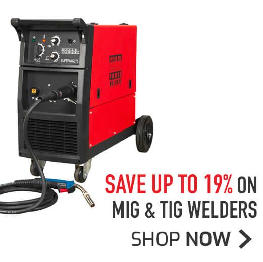 Range of MIG & TIG Welders - Save up to 19%