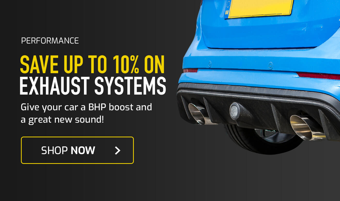 Save 10% on Exhaust Systems