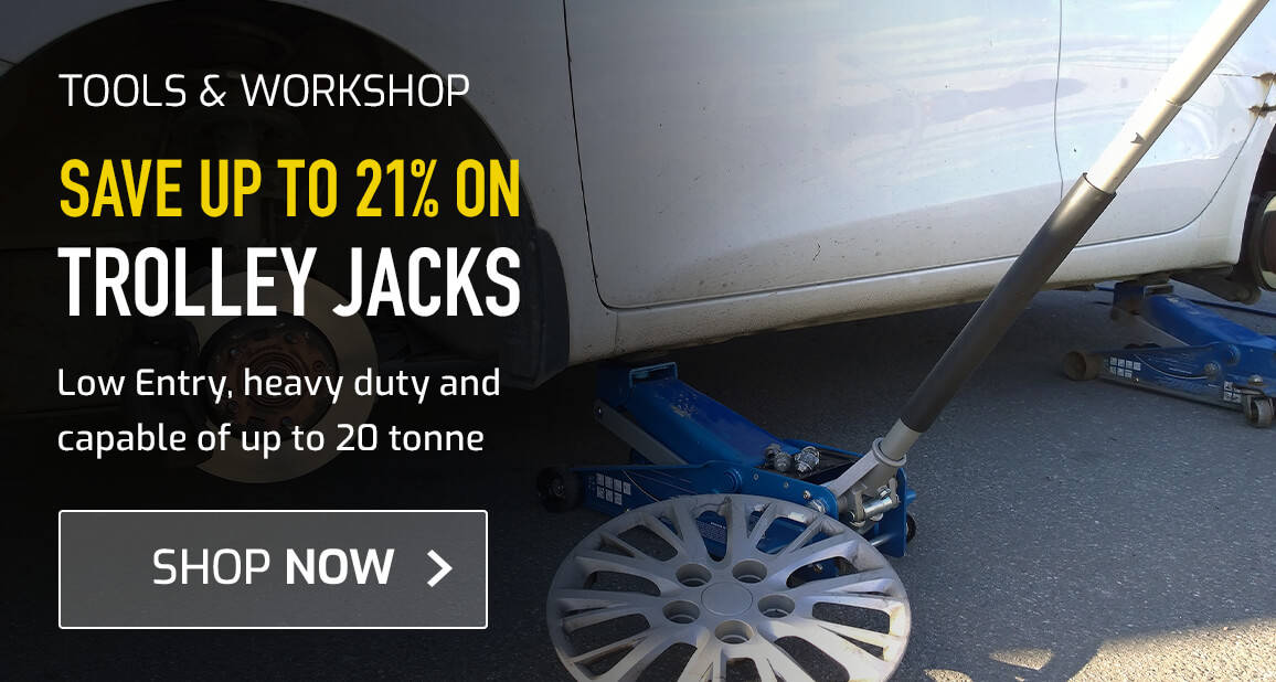 Save up to 21% on Trolley Jacks