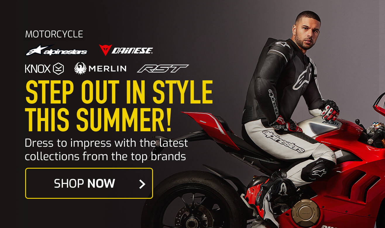 Shop the latest Motorcycle Clothing
