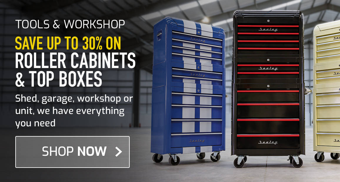 Roller Cabinets and Top Boxes - Shed, garage, workshop or unit, we have everything you need