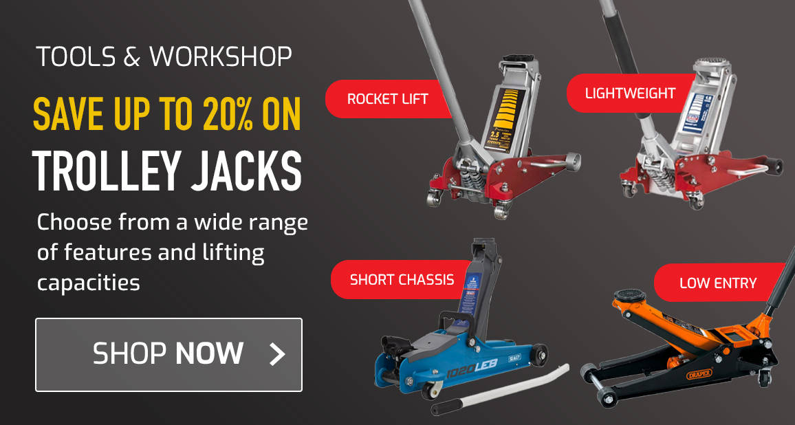 Save up to 20% on Trolley Jacks