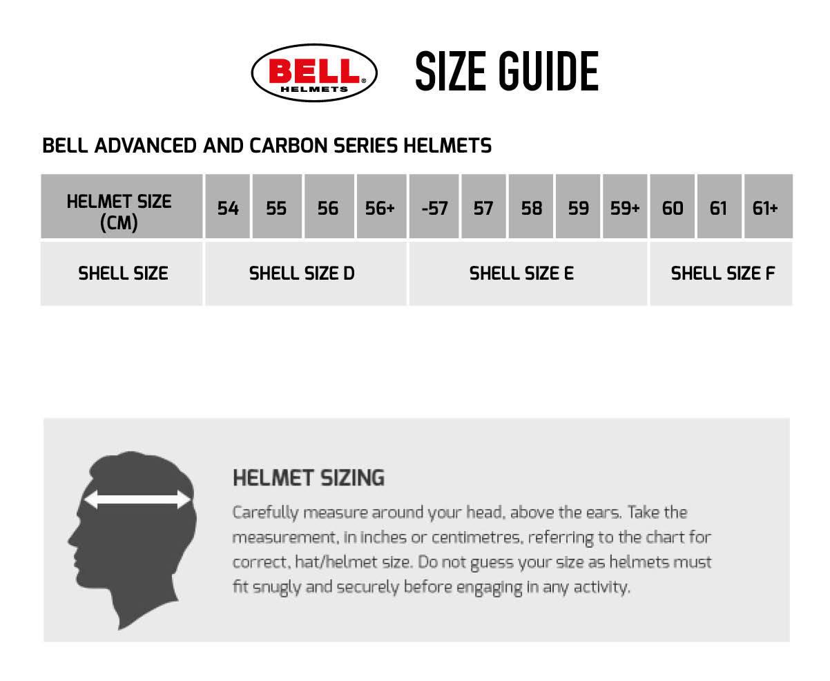 Bell HP7 Helmet Size Chart