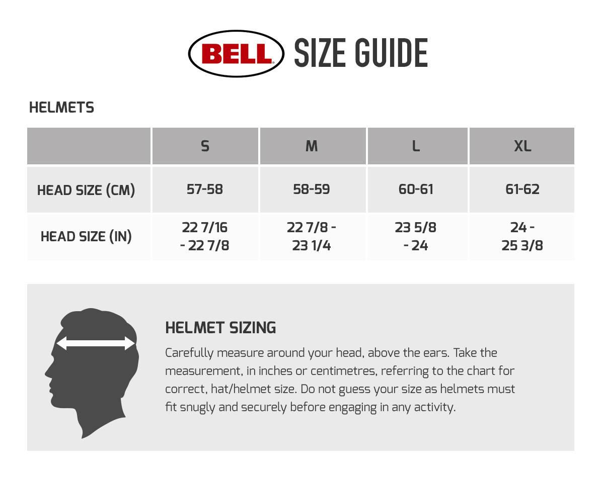 Bell Sport 5 Helmet Size Chart