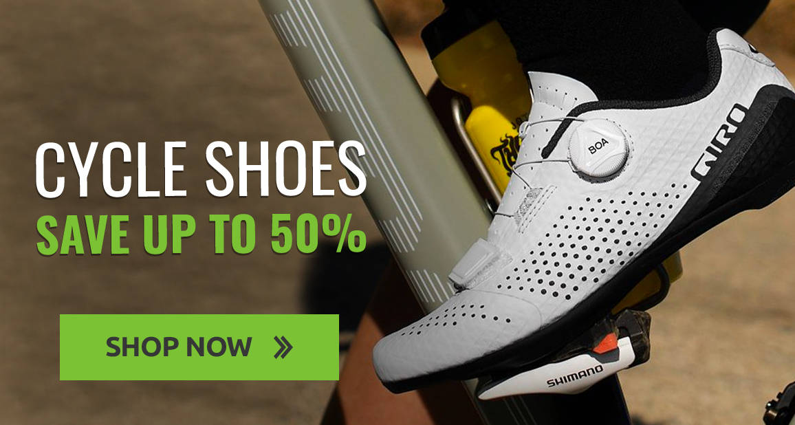 Save up to 50% on cycling shoes